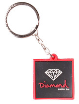 Diamond Supply Co. Black Red Rubber 3D OG Sign Key Chain