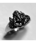 Hindu Lord Ganesh OM Sterling Silver .925 ring elephant Jewelry Pick you... - $38.50