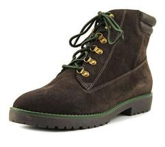 Lauren Ralph Lauren Mikelle Round Toe Leather Ankle Boot In Brown 8B NWOB - $69.81