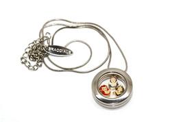 Bracciale Disney Round Locket Necklace Floating Jasmine Ariel Floating Charms - $24.74