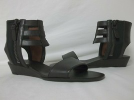 Via Spiga 6 M Patrice Black Leather Gladiator Sandals New Womens Shoes NWB - $73.82