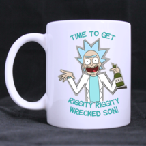 time to get riggity wrecked son Custom Personalized Coffee Tea White Mug - $13.99