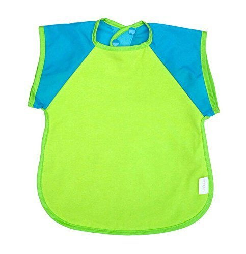 Cotton Waterproof Short Sleeved Bib Baby Feeding Smock Random Color, 3-5 Years