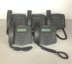 QTY5 Lot Polycom SoundPoint IP 301 2201-11301 No AC w/ Stand & Handset - $45.00