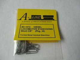 """A-Line # D-1074 Diesel Locomotive Stanchions Short 3/8""""  Pack 35 HO Scale image 3"""