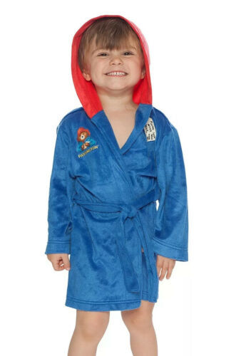 Primary image for Paddington Bear Toddler Hooded Robe, Blue, Size 3T