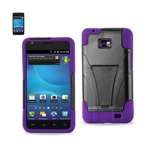 REIKO SAMSUNG GALAXY S2 HYBRID HEAVY DUTY CASE WITH KICKSTAND IN PURPLE ... - $7.12