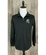 Michigan State University Spartans 1/4 Zip Pullover Medium Polyester Poc... - $21.76
