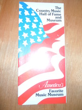 Vintage The Country Music Hall Of Fame & Museum Brochure Tennessee 1985 - $4.99