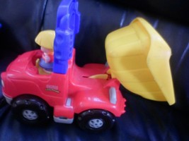 FP Little People Dump Truck W Moving Eyes Sounds ,push driver and bed du... - $4.83