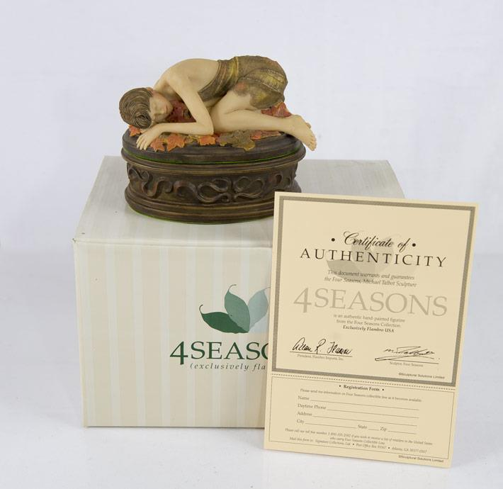 Primary image for 4 Seasons Woman Fall Lidded Box Collectible with Numbered Certificate Brand New