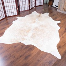 Salt and Pepper Rodeo Cowhide Rug 6.4x5.4 ft - 1995 - $285.00