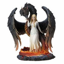 Veronese Design Beauty and the Winged Serpentine Dragon Sculpture - $120.76