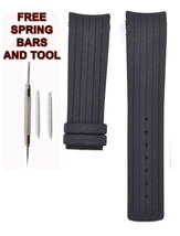 Suitable For Calvin K. ck K1V27938 Watches 22mm Black Rubber Strap 303CK - $28.38