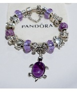 Pretty Purple Sea Turtle Authentic Jared Pandora Bracelet - $129.00