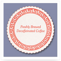 3 3/8 inch Decaf Coffee Budgetboard Coaster/Case of 1000 - $84.47