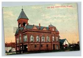 Vintage Early 1900's Postcard City Hall Corvallis Oregon POSTED - $15.81