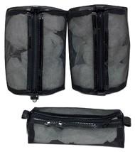Avon Makeup Bags Cosmetic Mesh Organizer THREE Black 2 sizes  - $10.89