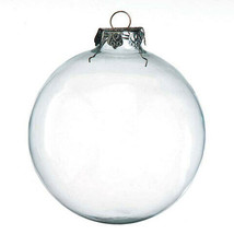 Darice Christmas Glass Ornament - Clear - Heavy Duty - Round - 100mm - 2... - $11.99