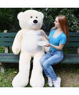 "WOWMAX Ivory Teddy Bear 72"" Large Giant Huge Stuffed Animal Plush Toy Gi... - $89.99"