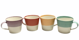 Royal Doulton England 1815 Brights Collection Set 4 Coffee Mugs Porcelai... - $72.26