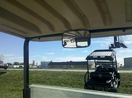 "4 1/2"" x 8"" Rear View Mirror for Golf Carts Such As Ez Go, Club Car, Yamaha - $19.58"