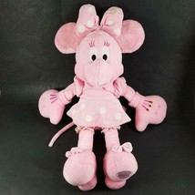 """RARE Disney Store Minnie Mouse THINK PINK Plush 17"""" Doll HTF Solid All Pink - $24.99"""