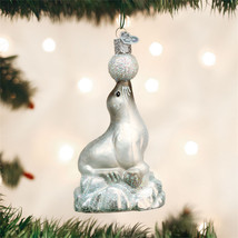 Artic Sea Lion Glass Ornament - $19.95