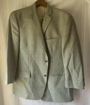 Michael Kors Mens Plaid Blazer 6 Pocket Button Jacket Beige Sz 46R - $37.39