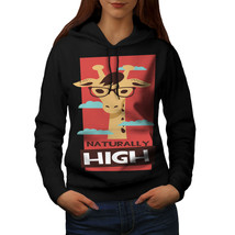 I Am Naturally High Funny Sweatshirt Hoody Giraffe Weed Women Hoodie - $21.99+