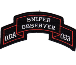 "4.5"" Army ODA-033 Sniper Observer Embroidered Patch - $16.24"