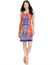 NY Collection Women's Sleeveless Paisley Beaded Neck Dress Size  Small ,... - $16.30