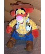 "Winnie Pooh Disney Store Plush 12"" Tigger as Toy Story Woody Cowboy - $10.59"
