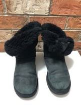 """UGG Australia Size 7  """"Bailey Button"""" Black Boot, Pre Owned, Genuine - $32.50"""