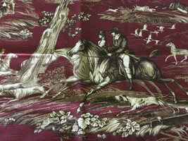 Braemore Fox Hunting Motif Multi-purpose Upholstery Fabric 1.875 yd - $26.72
