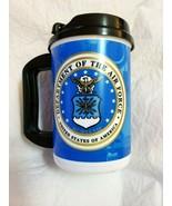 UNITED STATES AIR FORCE USAF TRAVEL TUMBLER INSULATED COFFEE MUG 20OZ W/... - $10.79