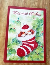 21 Holiday Christmas Cards & Envelopes 1 Design Warmest Wishes Unboxed  - $4.94