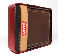 NEW LEVI'S MEN'S PREMIUM LEATHER CREDIT CARD ID WALLET BILLFOLD BROWN 31LV1344 image 5