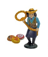 Lasso Lil the Cowgirl Cast Iron Bottle Opener - $25.52