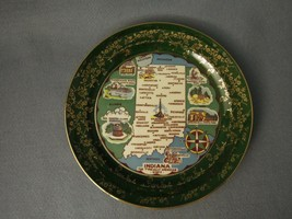 Indiana Souvenir Plate  Taylor Smith  Green and Gold 9 1/4  - $59.40