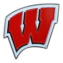 Fanmats NCAA Wisconsin Badgers Diecast 3D Color Emblem Car Truck RV 2-4 Day Del. - $10.64