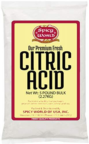 Pure Citric Acid, 5 Pound - Food Grade & Non-GMO- Natural Food Preservative, All