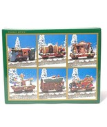 North Pole Express Christmas Train Collection 1995 Set of 6 World Bazaar... - $49.49