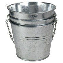 Set of 3 Round Metal Bucket Hanging Planters Rustic Farmhouse Industrial NEW - $14.84