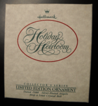 Hallmark Keepsake Christmas Ornament 1988 Holiday Heirloom Silver Plate ... - $10.99