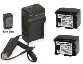 Two BP-807 BP-808 Batteries + Charger For Canon FS10 FS10E FS100 FS100GW FS100SB - $48.50
