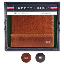 Tommy Hilfiger Men's Leather Wallet Hipster & Valet Billfold Rfid 31TL120002