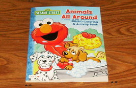 Sesame Street Animals All Around  Jumbo Coloring and Activity Book - 64 ... - $1.99