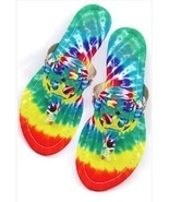 Tie Dye Groovy Flat Sandals/Slippers - $15.00