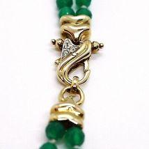 Halskette Silber 925, Doppel Reihe, Kugel von Amethyst Groß, Chalcedon Grün image 4